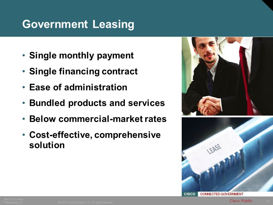 Government Leasing Single monthly payment Single financing contract