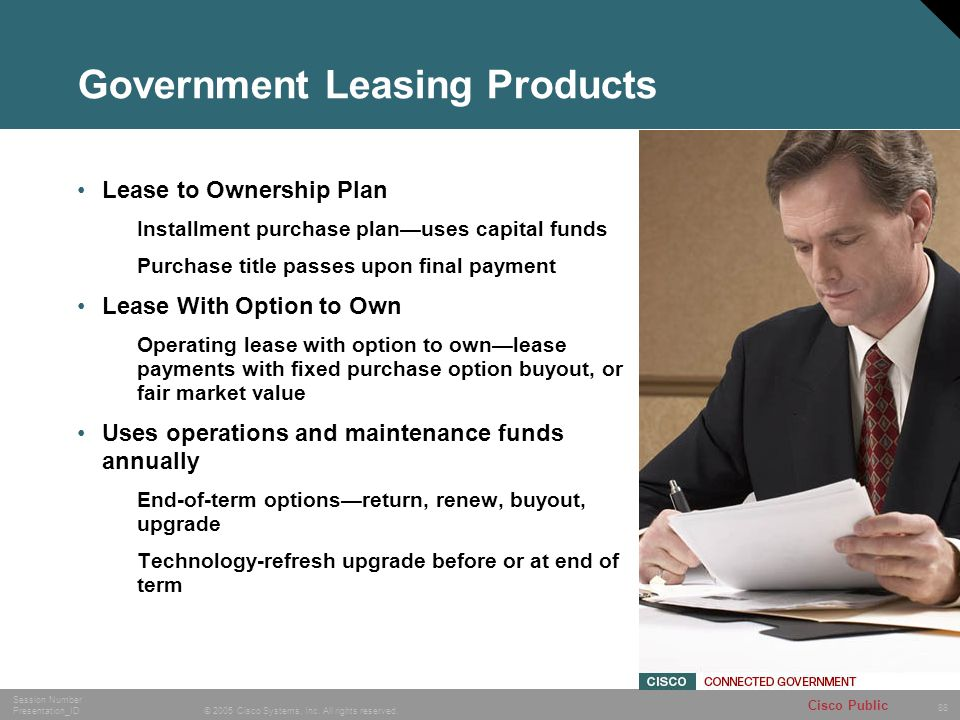 Government Leasing Products