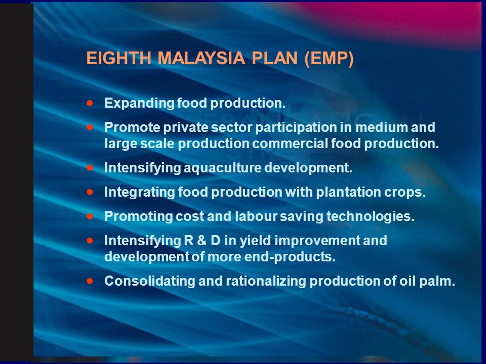 EIGHTH MALAYSIA PLAN (EMP)
