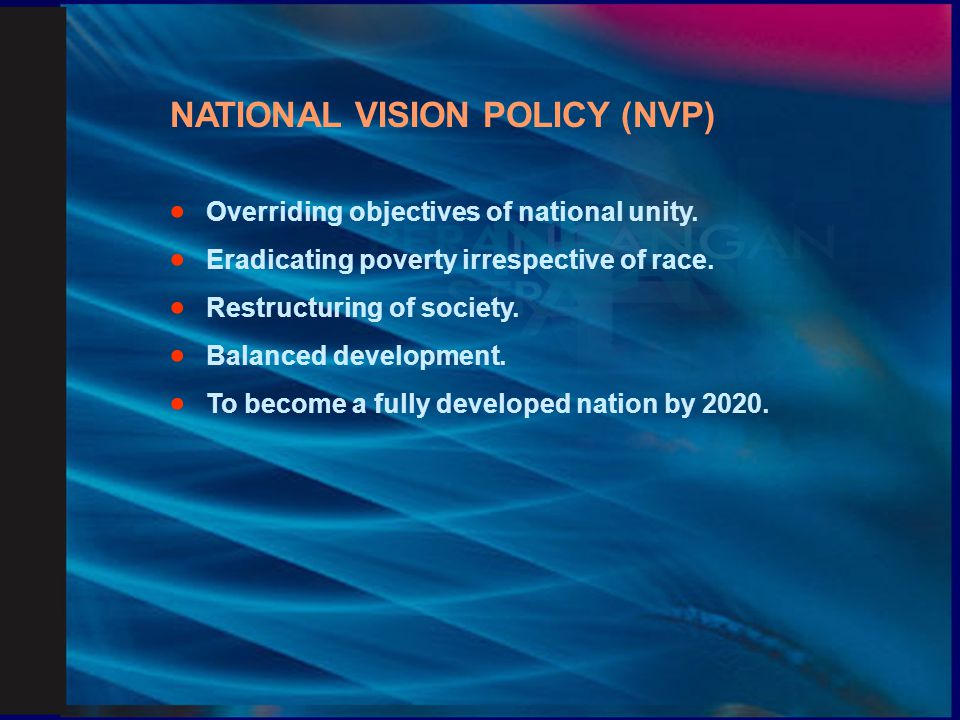NATIONAL VISION POLICY (NVP)