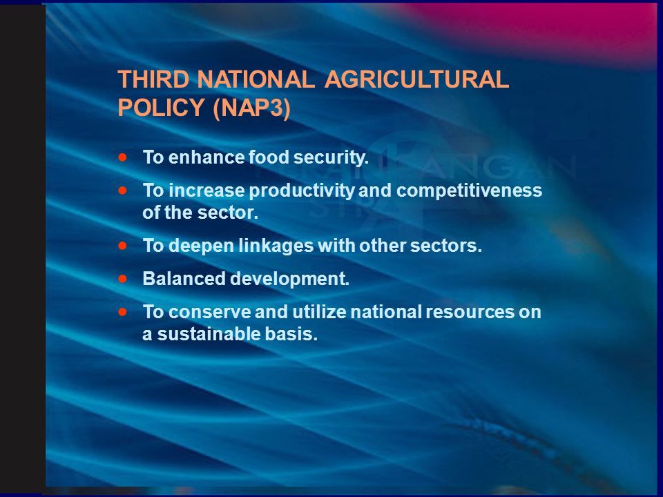 THIRD NATIONAL AGRICULTURAL POLICY (NAP3)