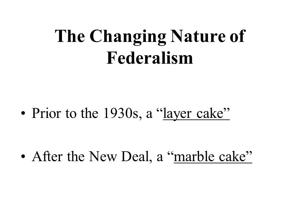 The Changing Nature of Federalism