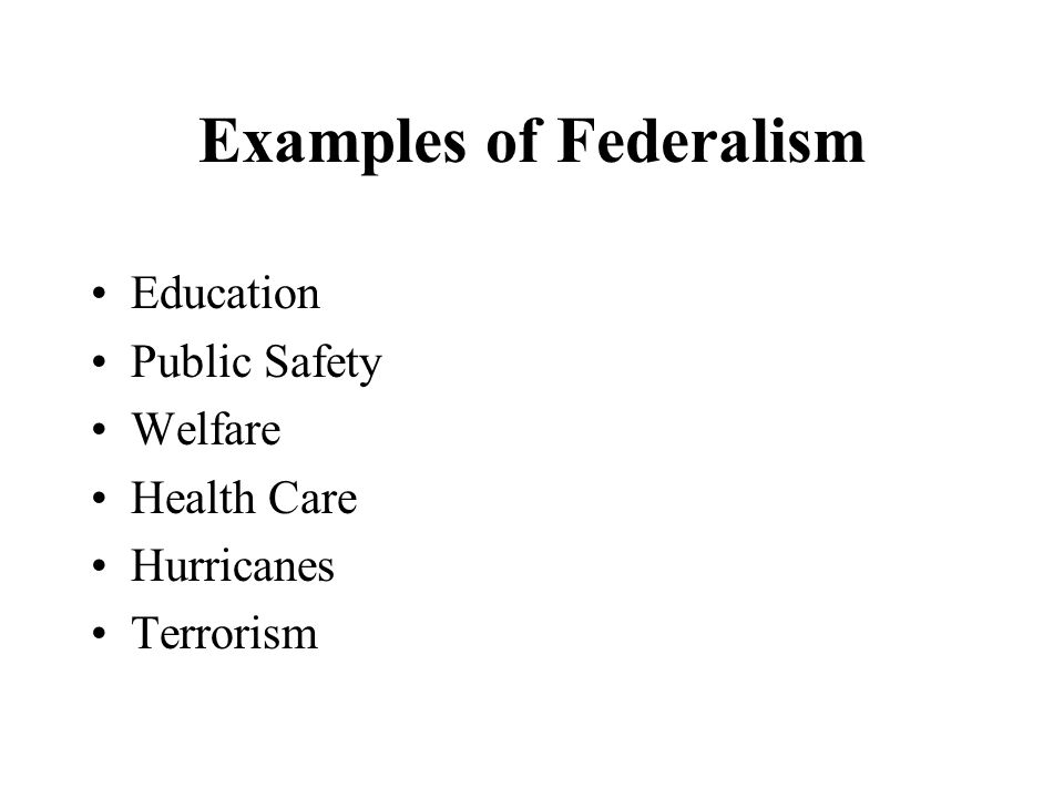 federalism and education essay Oates: an essay on fiscal federalism my purpose in this essay is not to and services like education and health is.