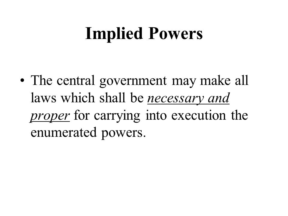 Rules by which a government may