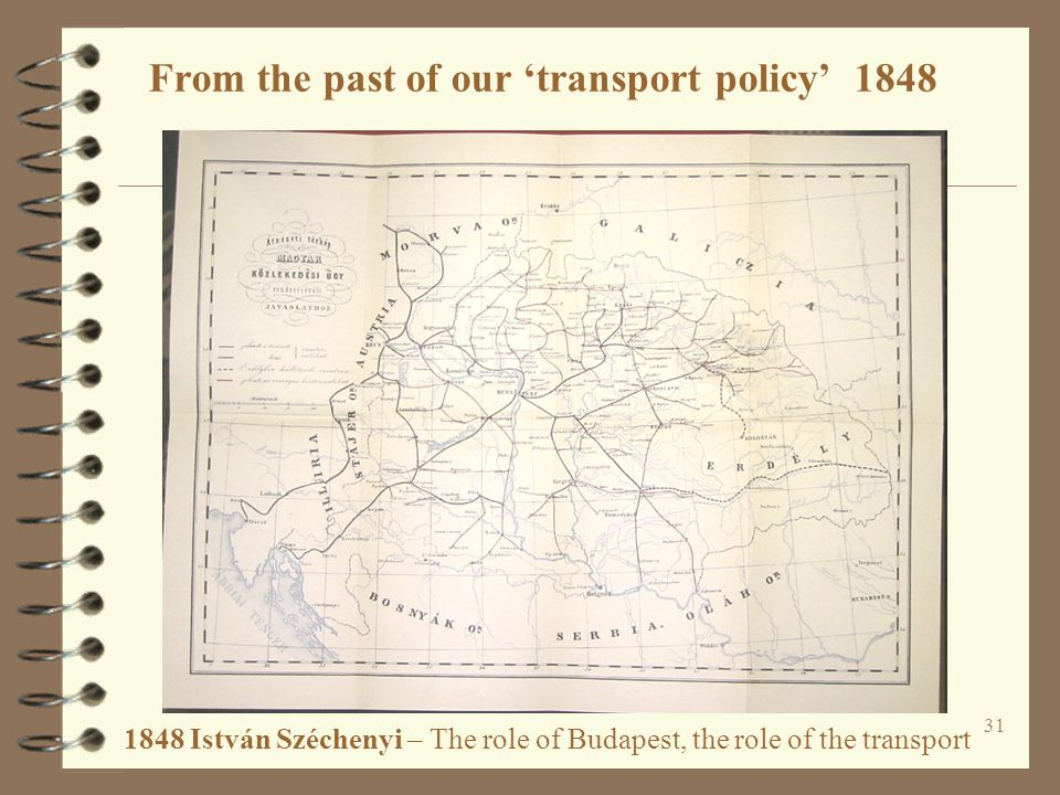 From the past of our 'transport policy' 1848
