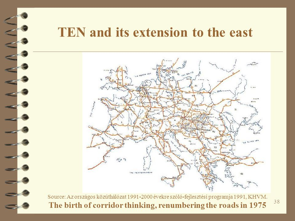 TEN and its extension to the east