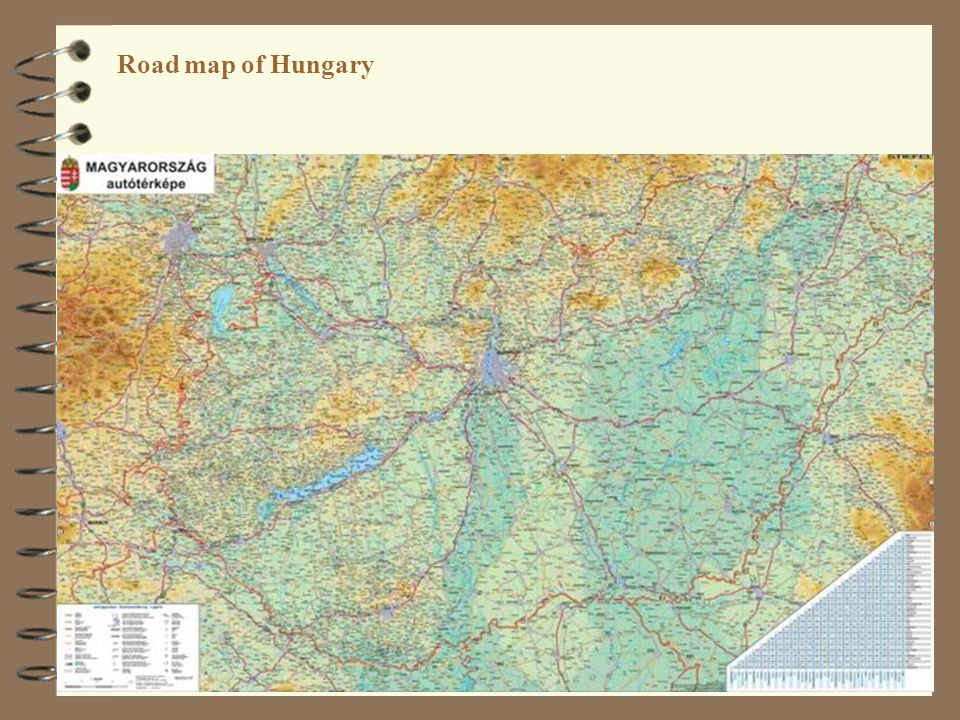 Road map of Hungary