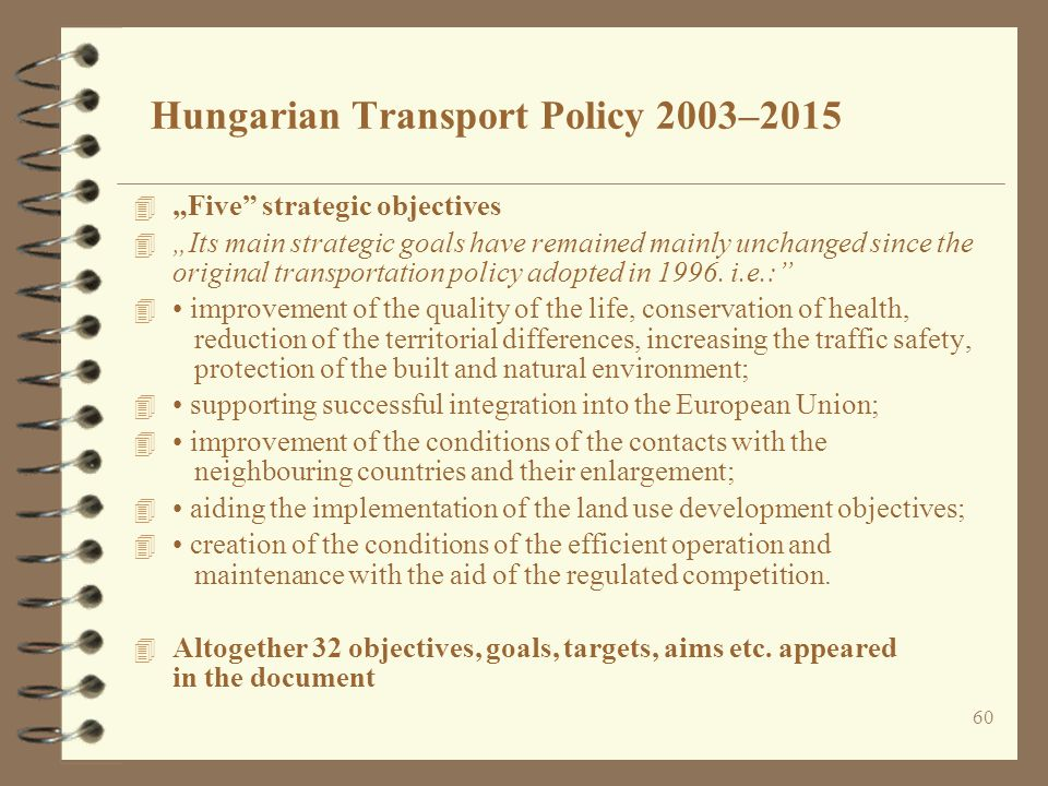 Hungarian Transport Policy 2003–2015