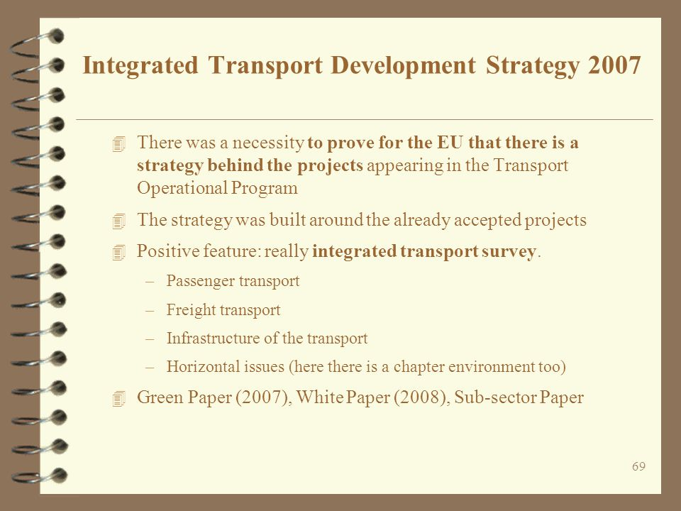 Integrated Transport Development Strategy 2007