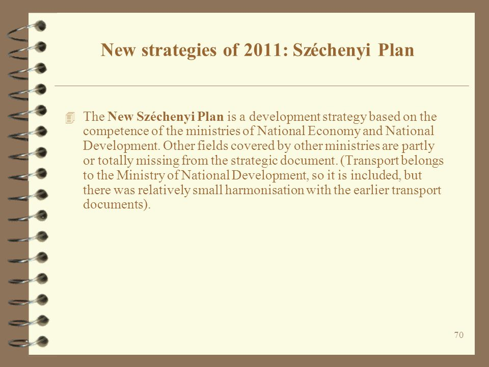 New strategies of 2011: Széchenyi Plan