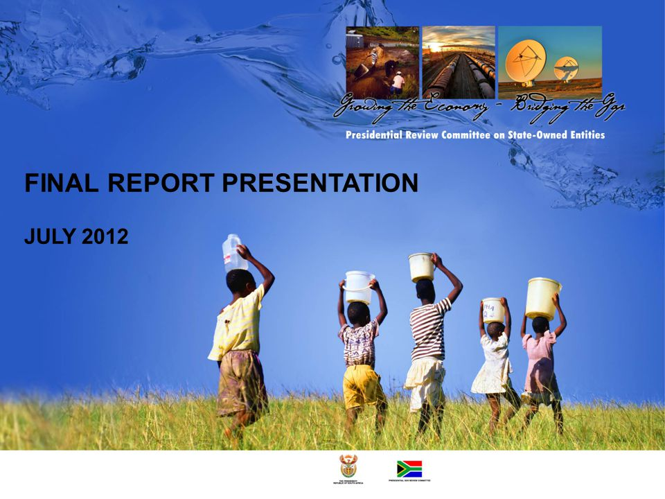 FINAL REPORT PRESENTATION JULY 2012
