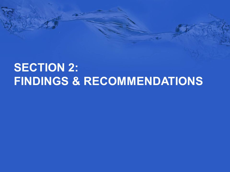 SECTION 2: FINDINGS & RECOMMENDATIONS