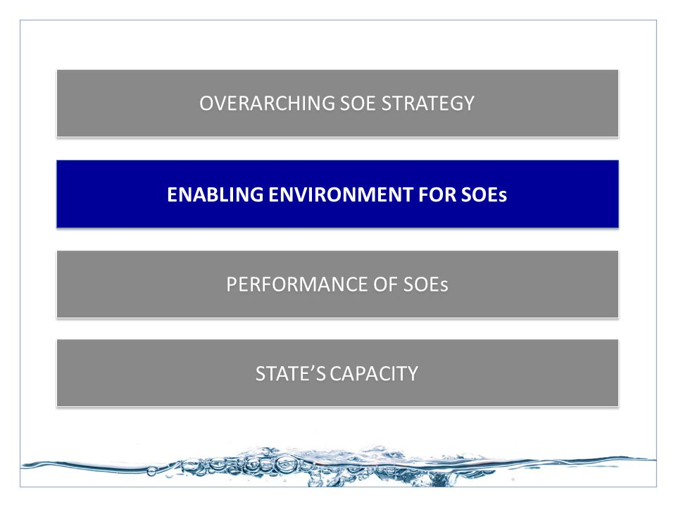 ENABLING ENVIRONMENT FOR SOEs