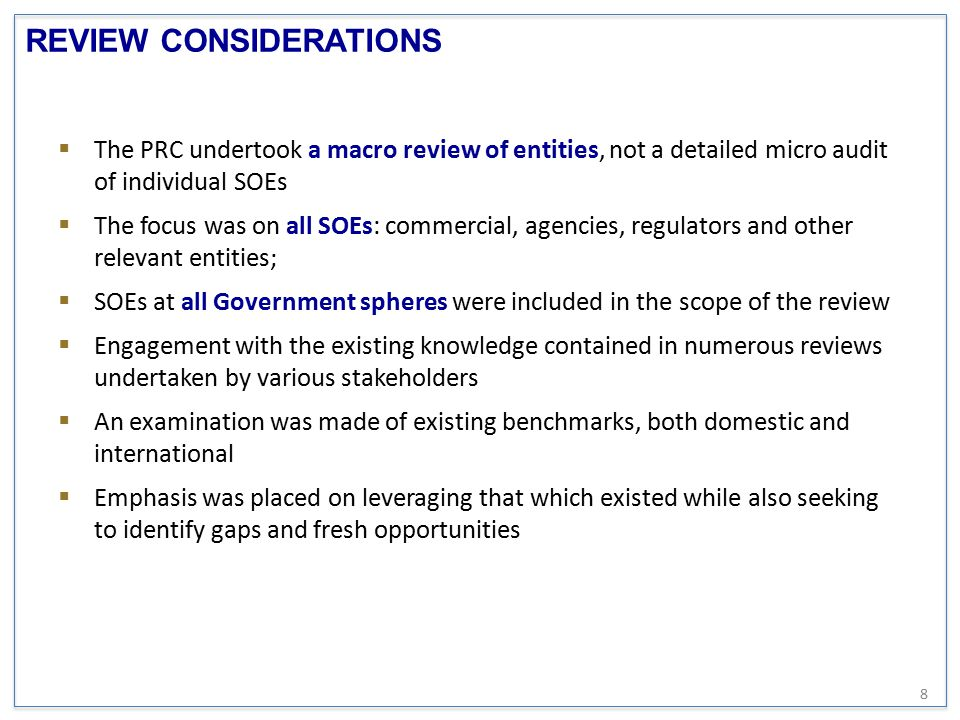 REVIEW CONSIDERATIONS Heading