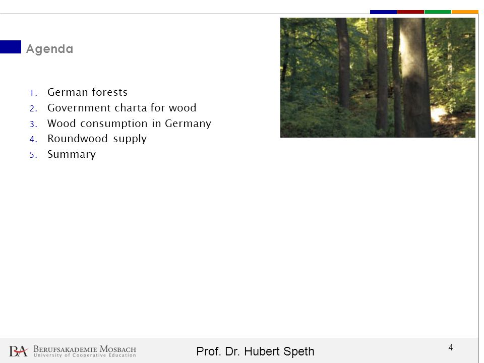 Agenda German forests Government charta for wood