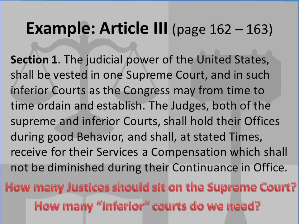 Example: Article III (page 162 – 163)