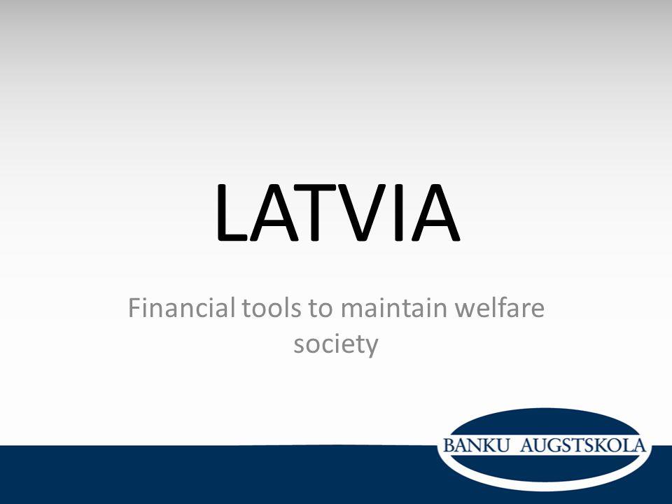 Financial tools to maintain welfare society