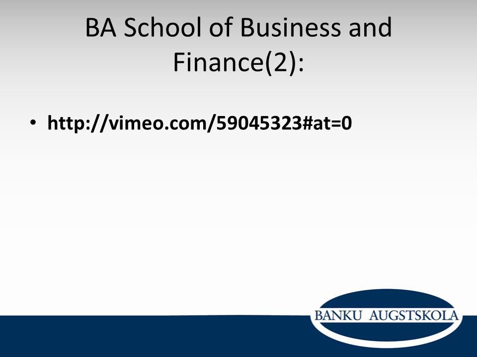 BA School of Business and Finance(2):