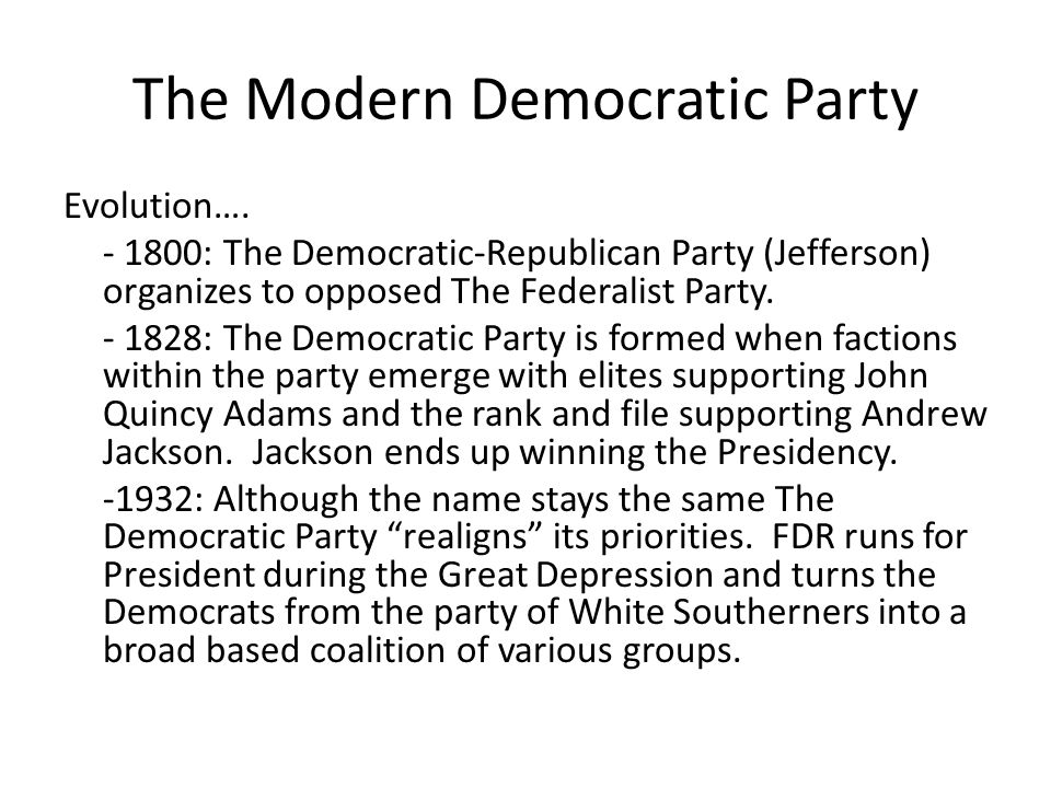 The Modern Democratic Party