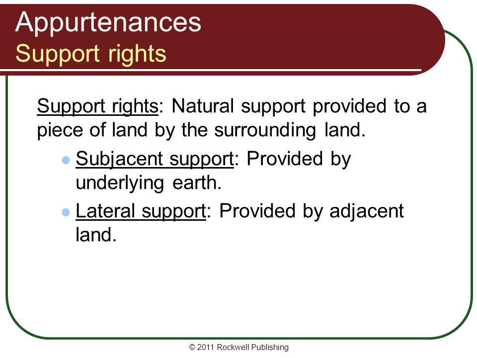 Appurtenances Support rights