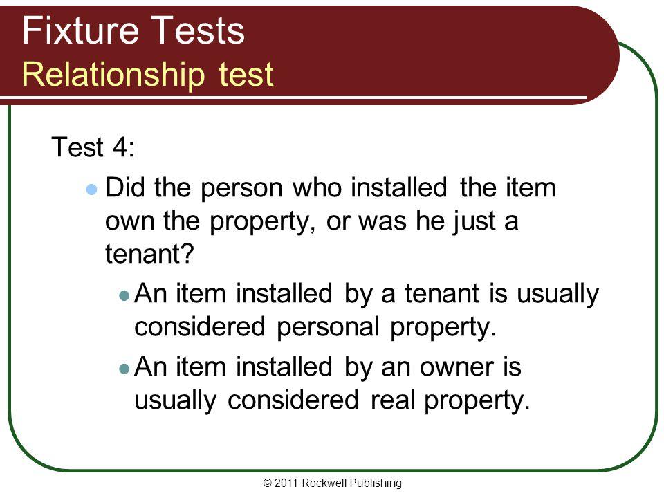 Fixture Tests Relationship test
