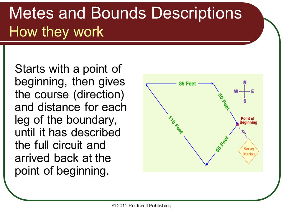 Metes and Bounds Descriptions How they work