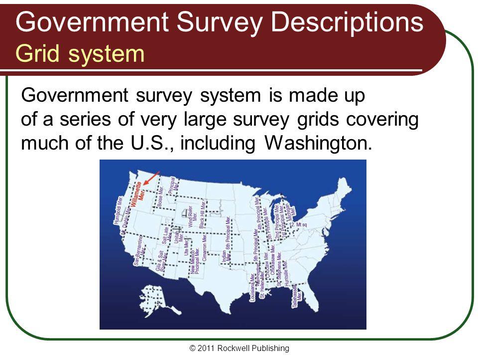 Government Survey Descriptions Grid system
