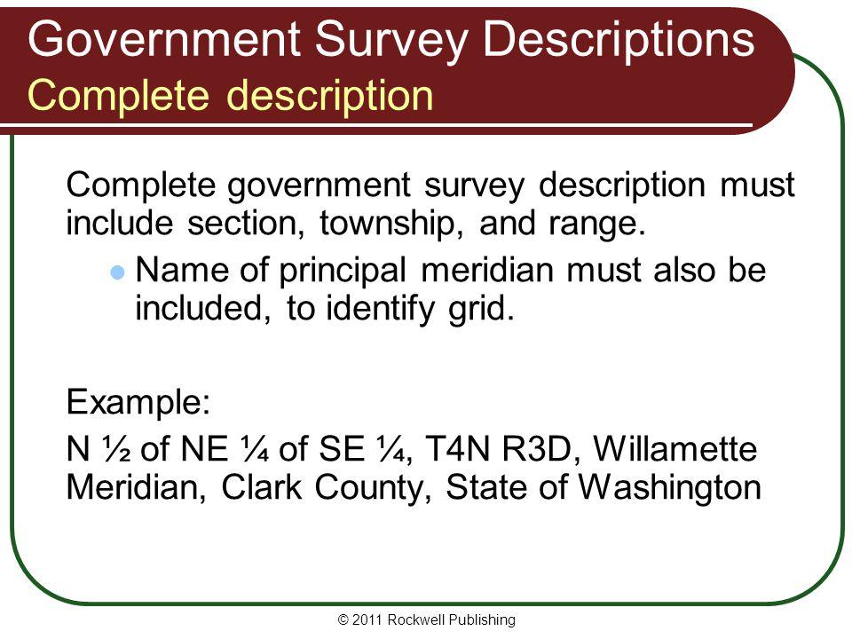 Government Survey Descriptions Complete description