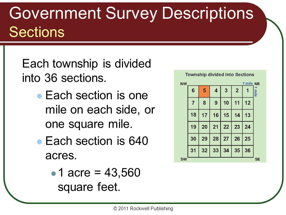 Government Survey Descriptions Sections
