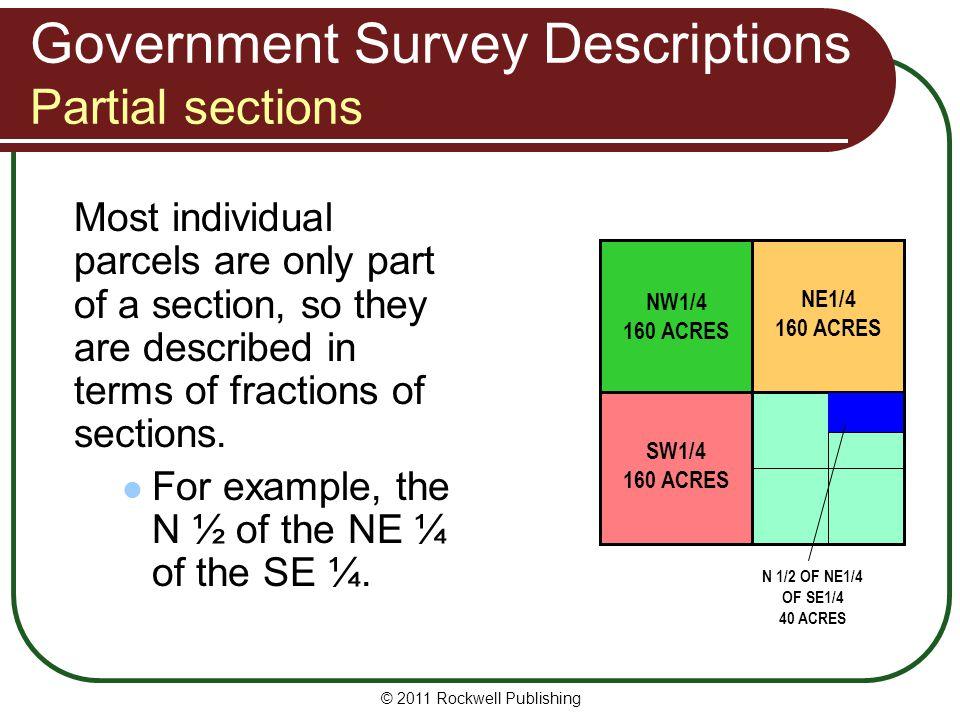 Government Survey Descriptions Partial sections