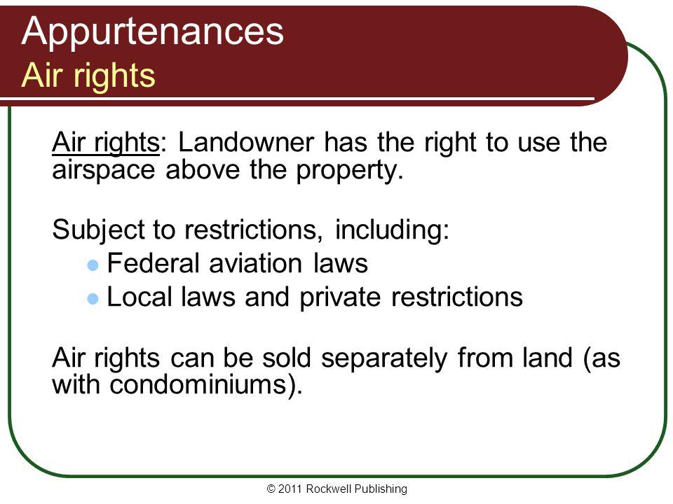 Appurtenances Air rights