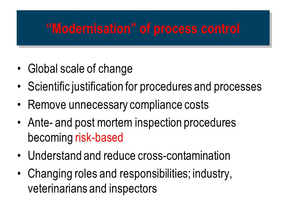Modernisation of process control