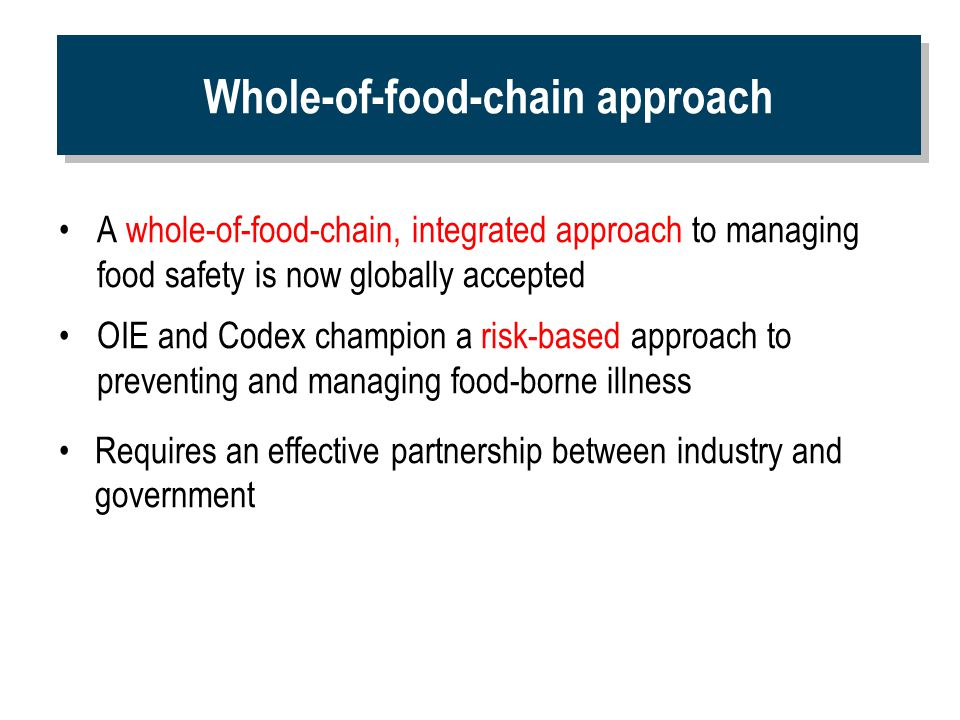 Whole-of-food-chain approach