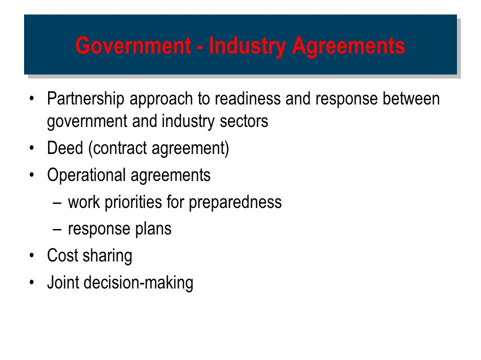 Government - Industry Agreements