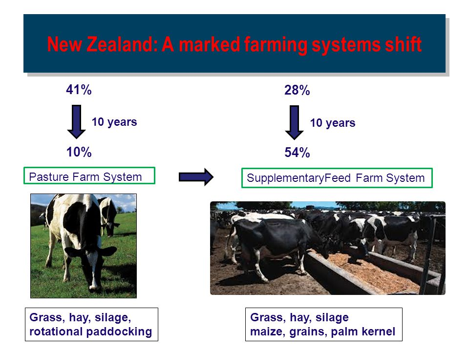 New Zealand: A marked farming systems shift