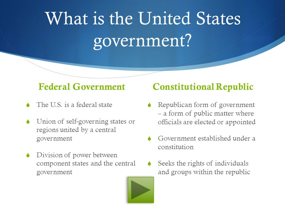 federal government of the united states 3 essay The united states is described as a federal republic the constitution was written to separate the powers of the government it was broken down into three branches, the executive branch, the legislative branch, and judicial branch all three of these branches act independently of each other.