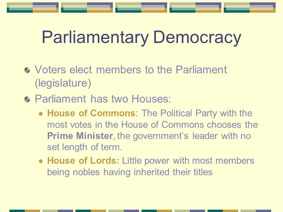 advantages of parliamentary democracy How can we compare the presidential system of the government on the basis of democracy  what are the advantages that the parliamentary system of.