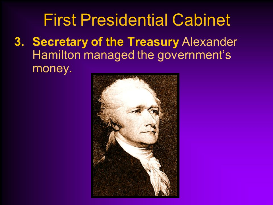 First Presidential Cabinet