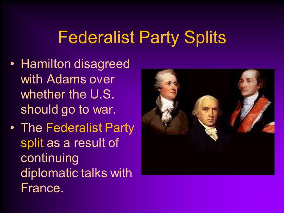 Federalist Party Splits