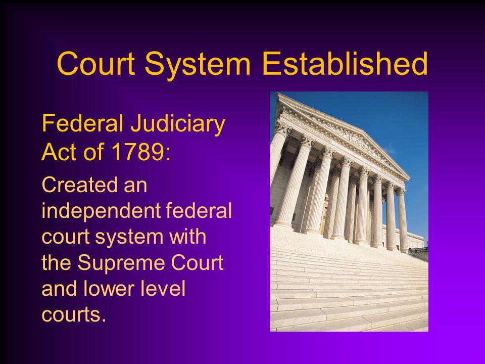 Court System Established
