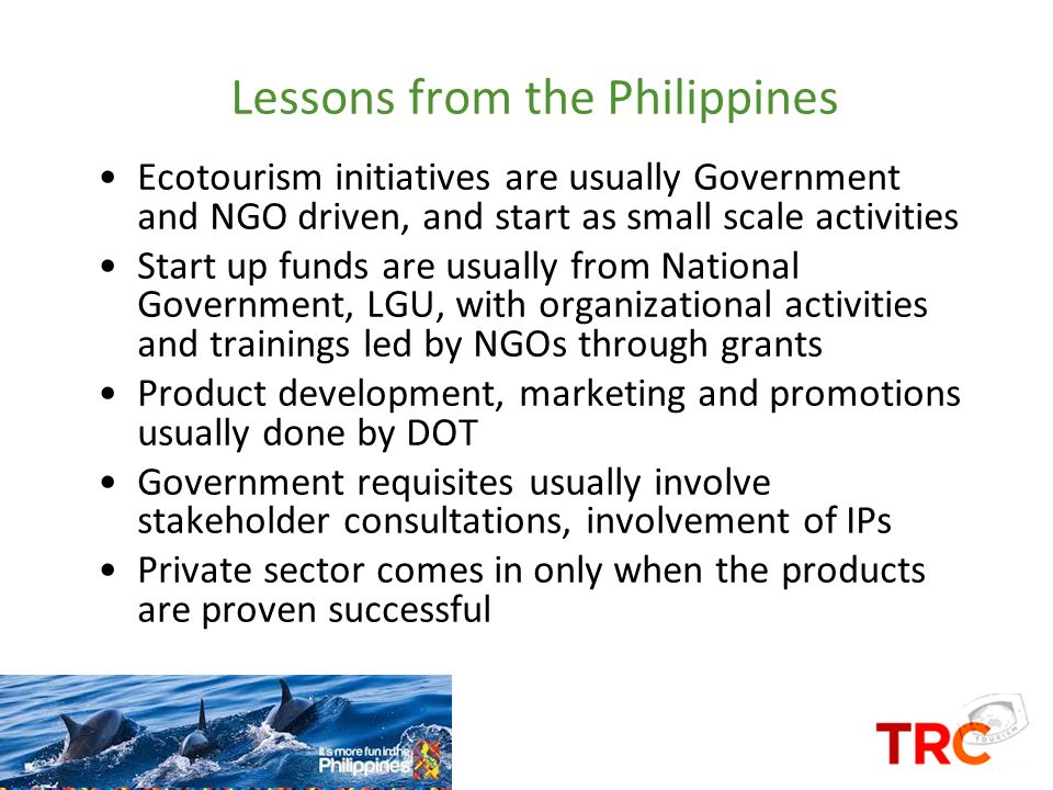 Lessons from the Philippines
