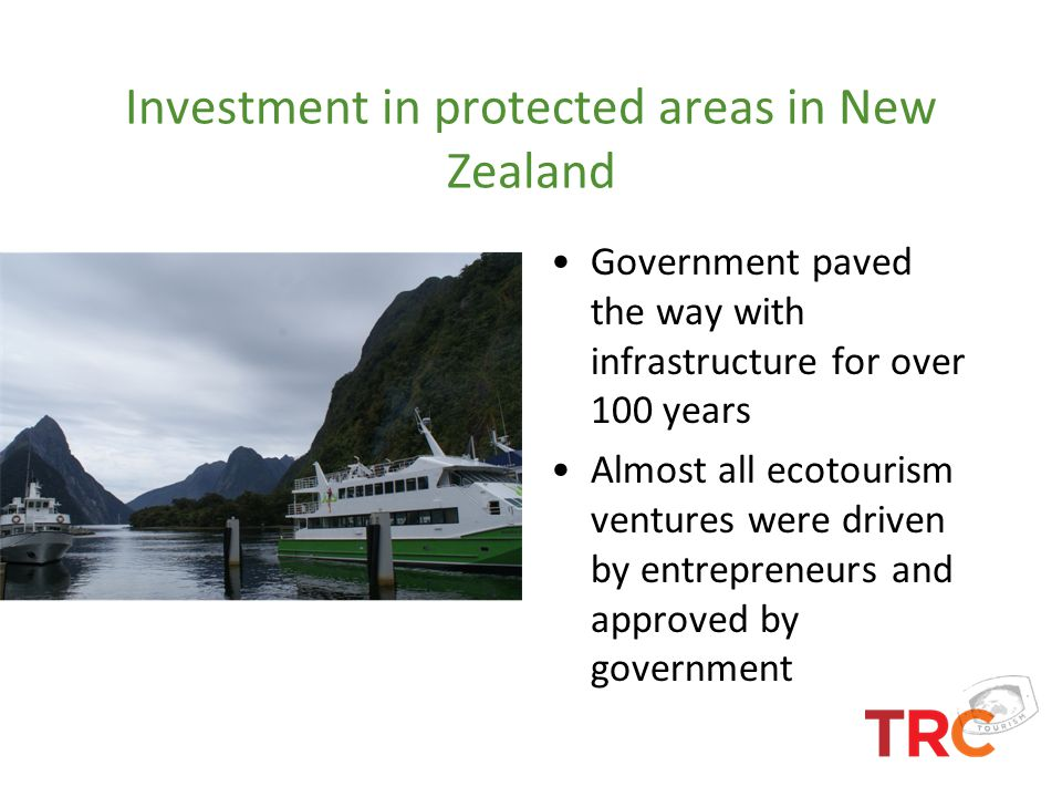 Investment in protected areas in New Zealand