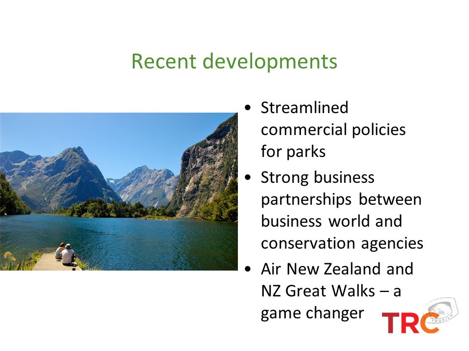 Recent developments Streamlined commercial policies for parks