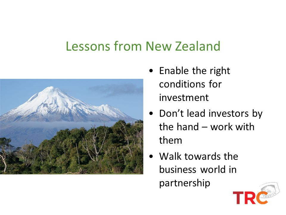 Lessons from New Zealand