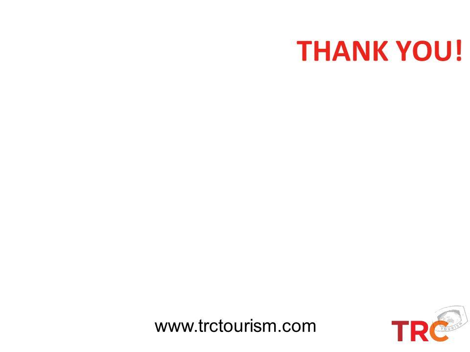 THANK YOU! www.trctourism.com