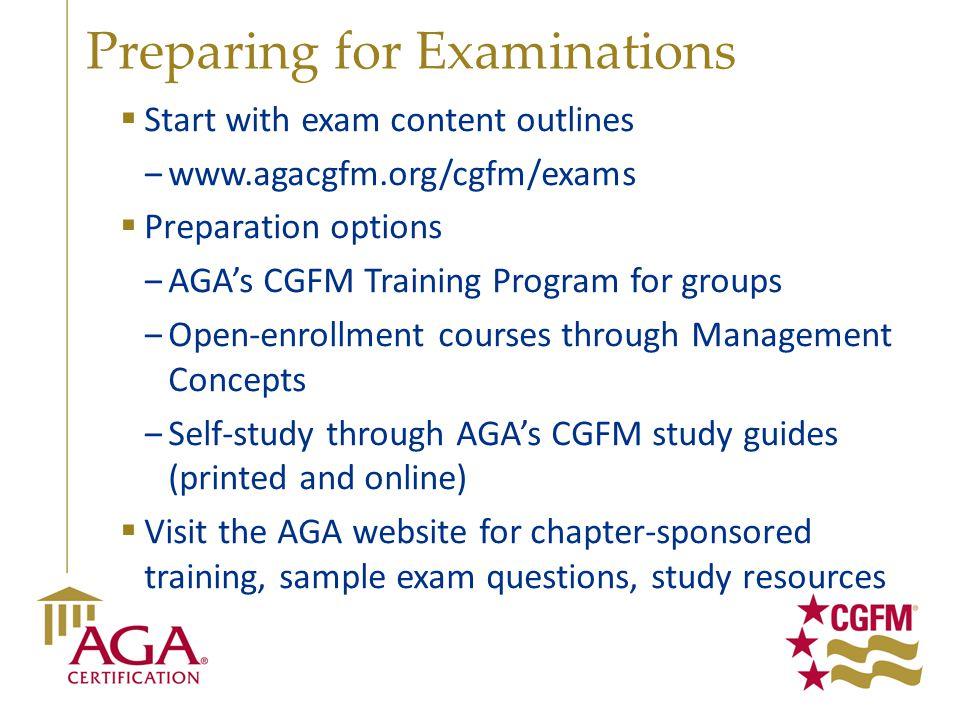Preparing for Examinations