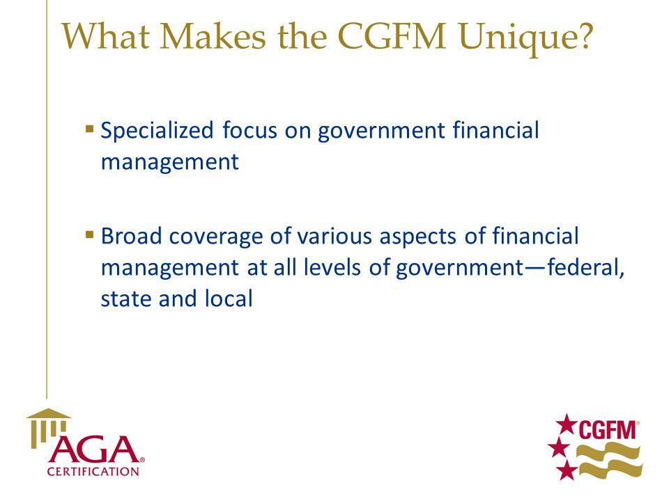 What Makes the CGFM Unique