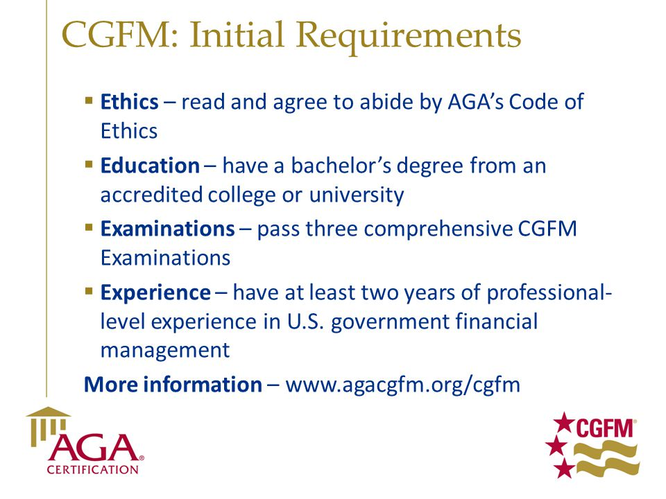 CGFM: Initial Requirements