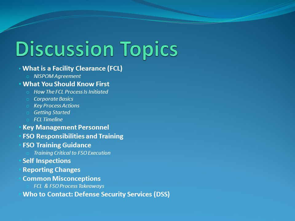 Discussion Topics What You Should Know First Key Management Personnel
