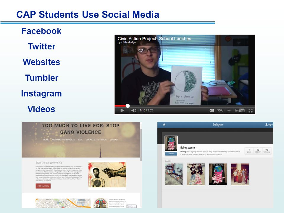CAP Students Use Social Media